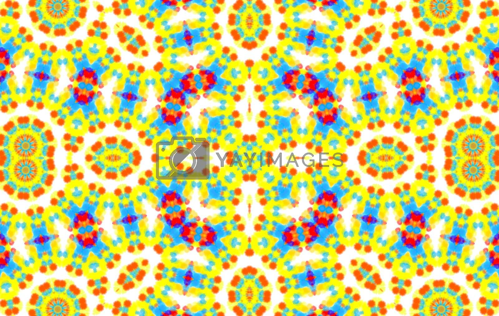 Bright abstract pattern on white background