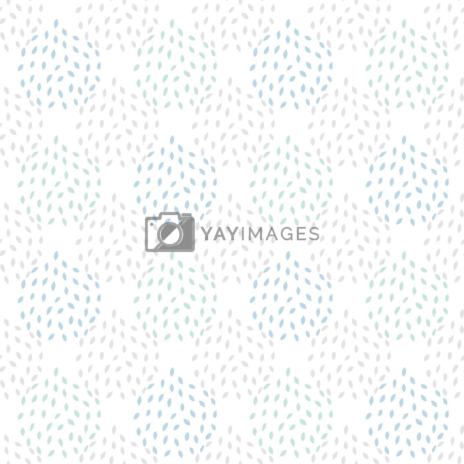 Vector Abstract Gray Leaves Texture Seamless Pattern graphic design