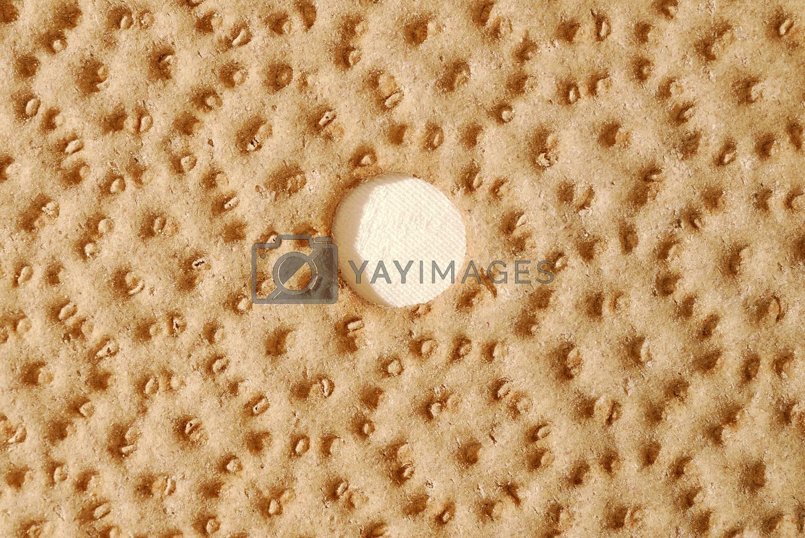 Closeup of dry Swedish bread.        Dry Swedish bread.