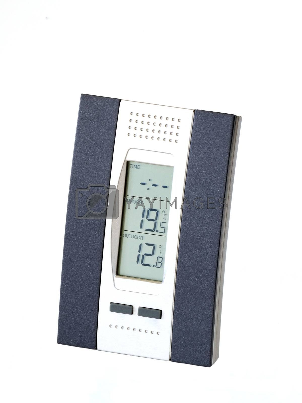 Modern weather station, isolated on white background.