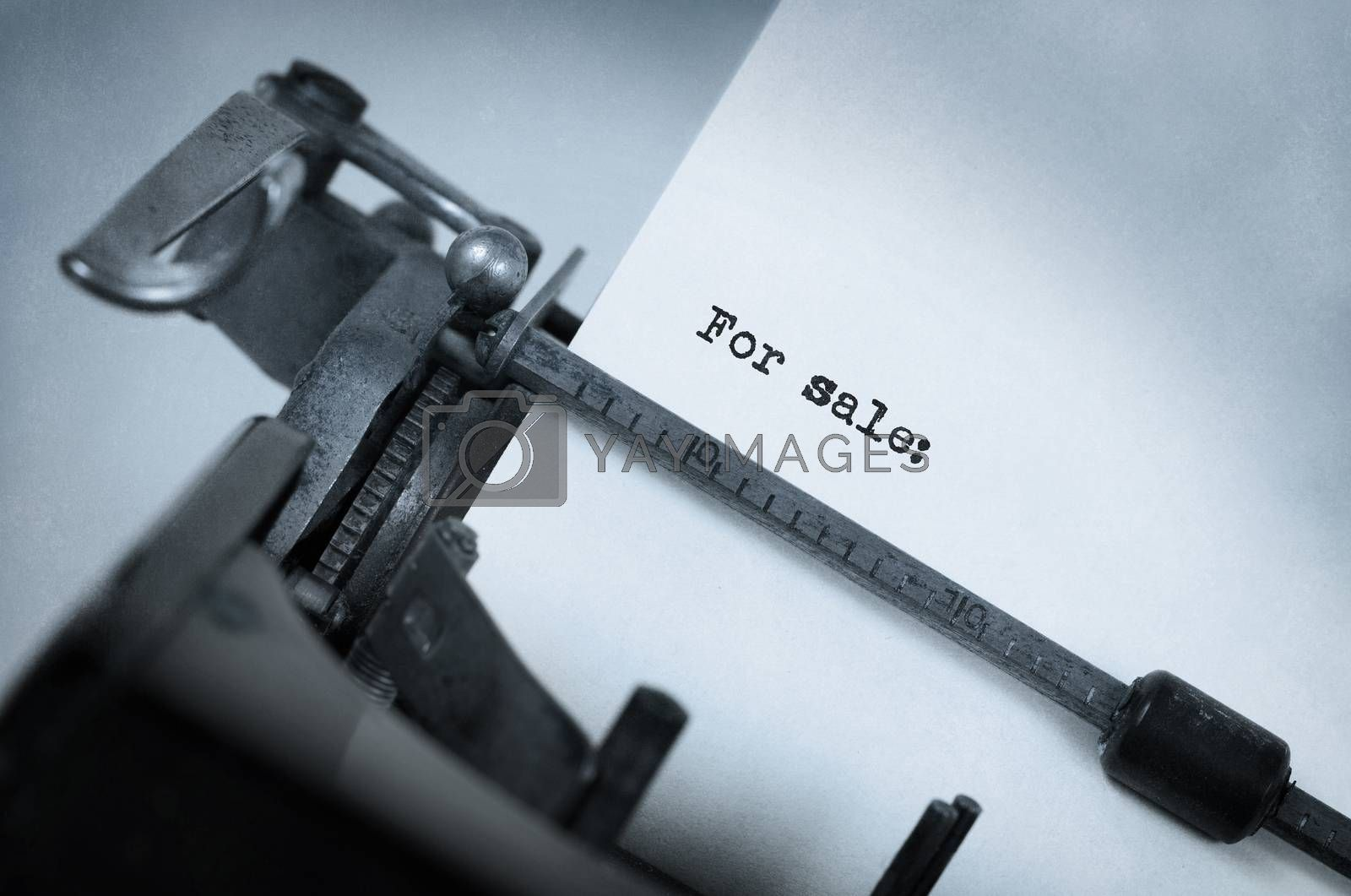 Vintage inscription made by old typewriter by michaklootwijk