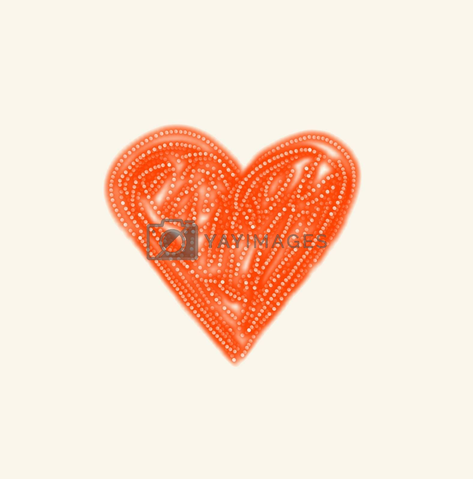 Abstract bright love symbol