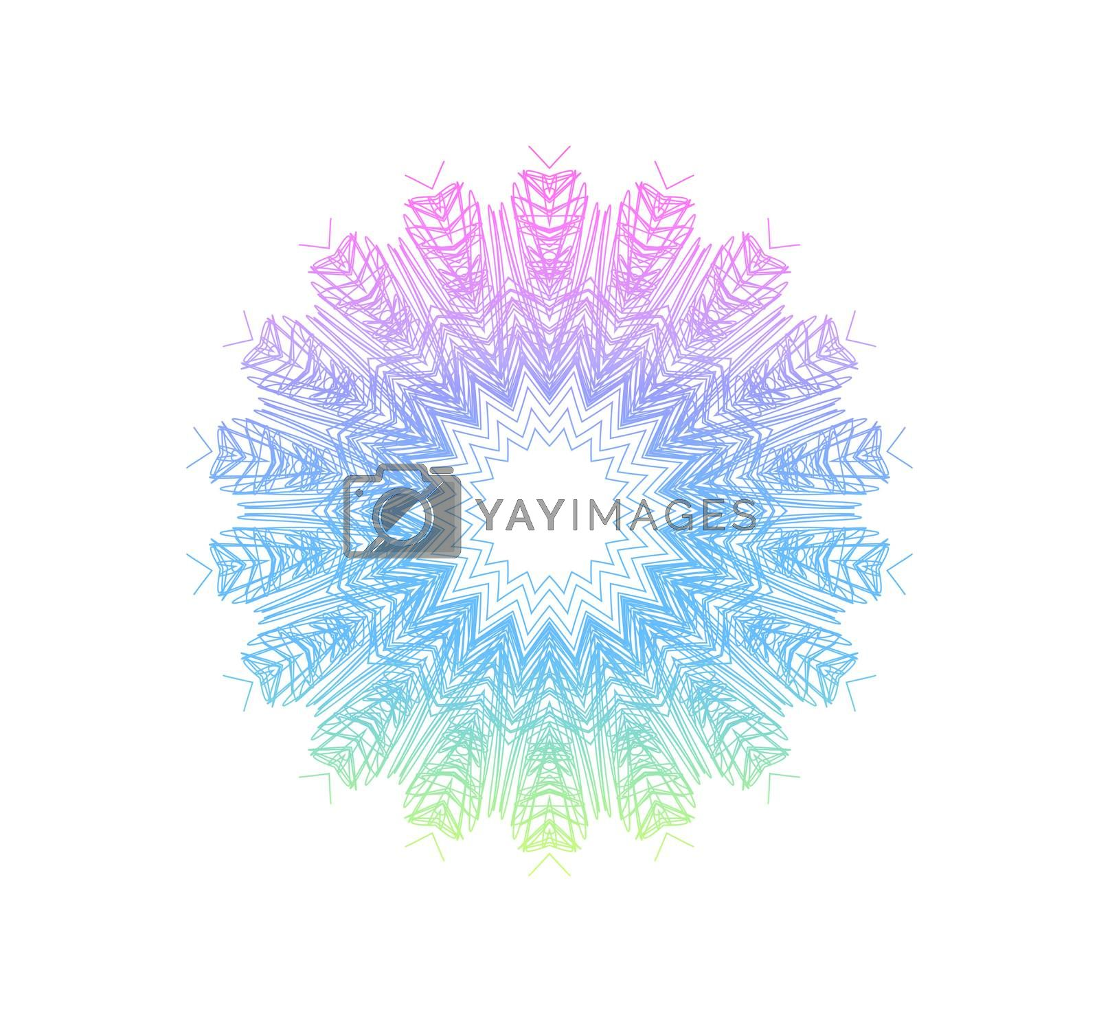 White background with abstract concentric pattern shape