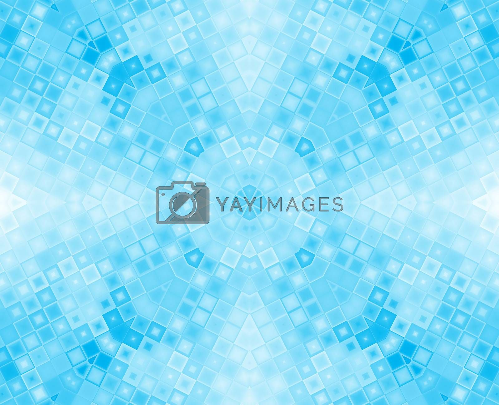 Abstract blue concentric pattern of different squares