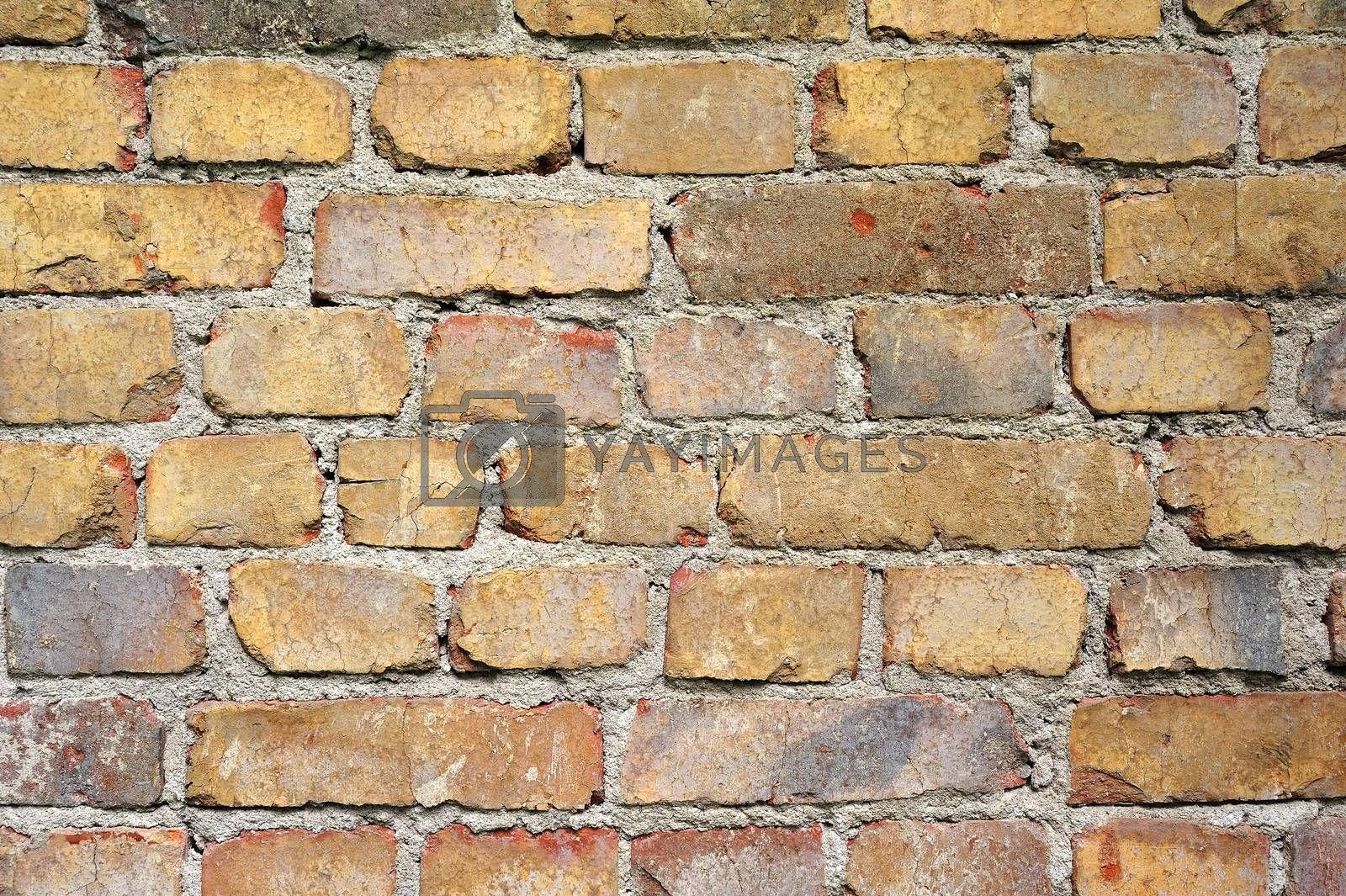 Patterned brick wall by a40757