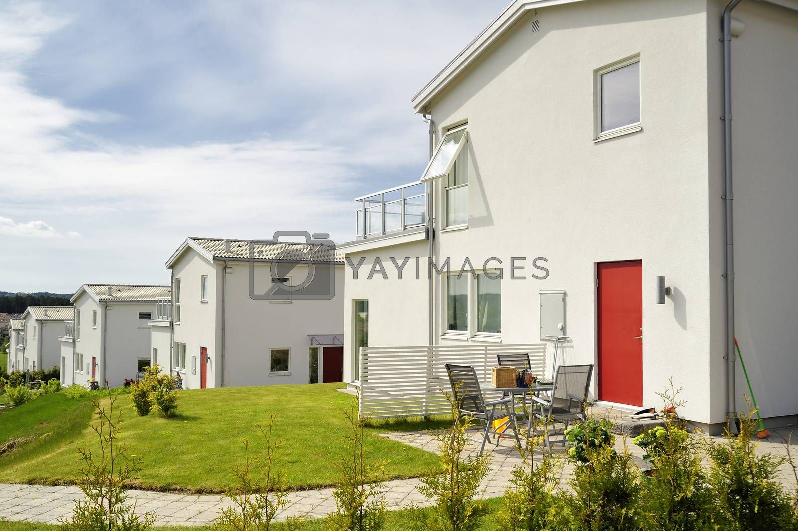 Swedish housing a summer day.