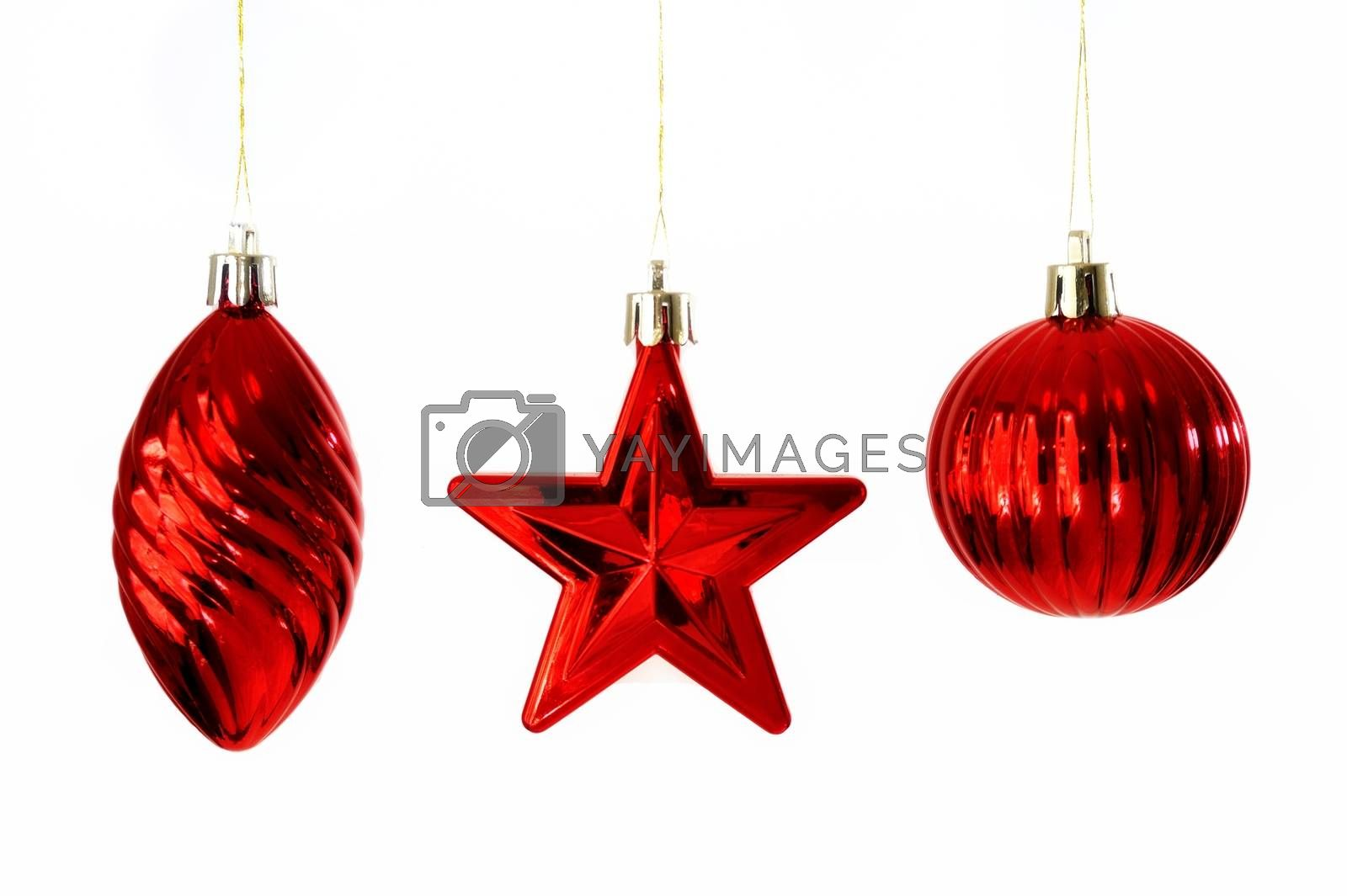Colorful Christmas Baubles.