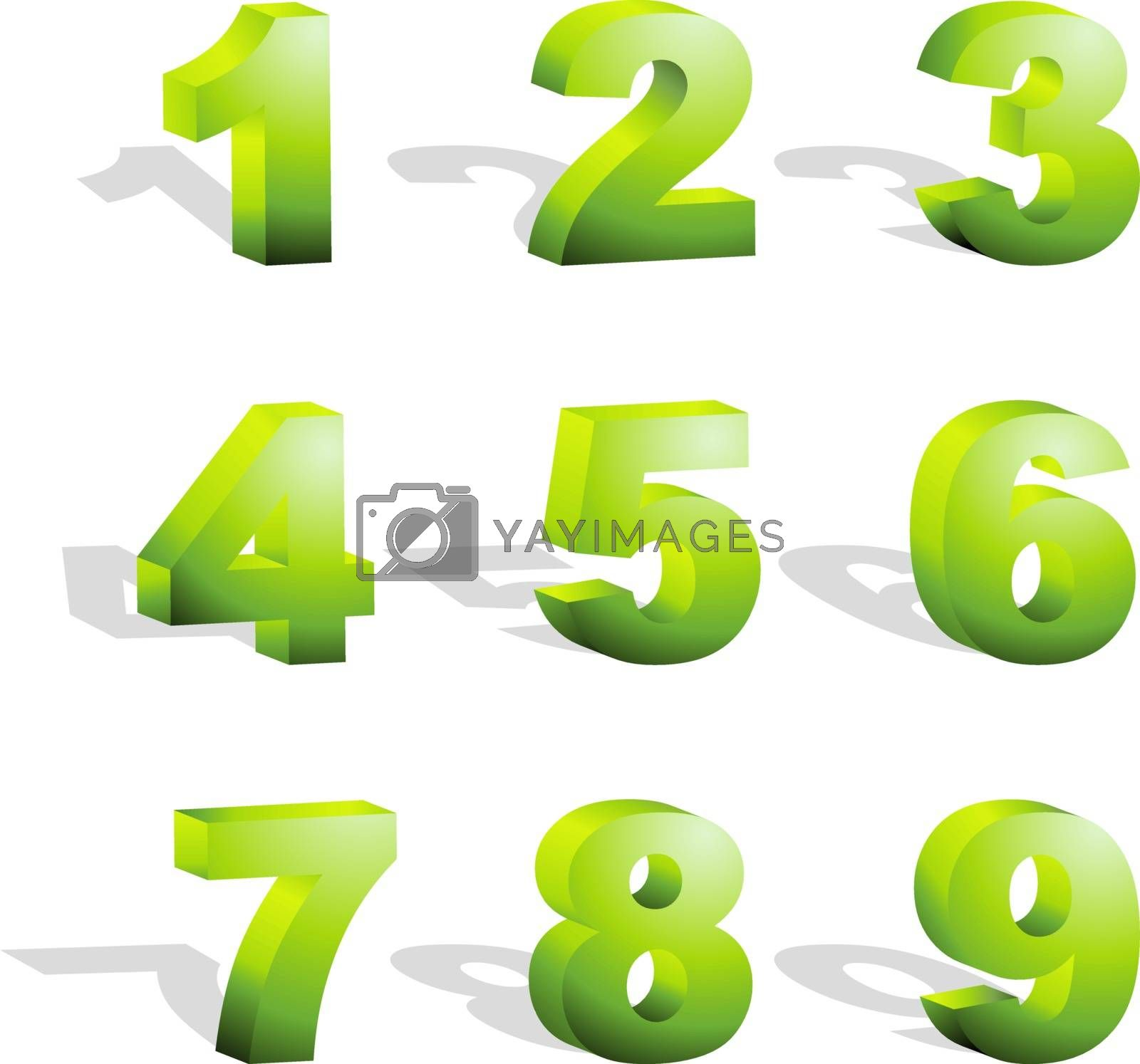 Numbers. Usable for different design.