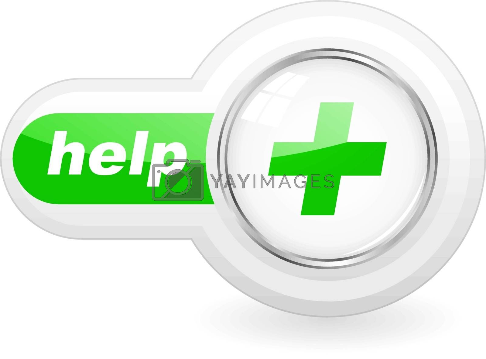 HELP icon. Usable for web design