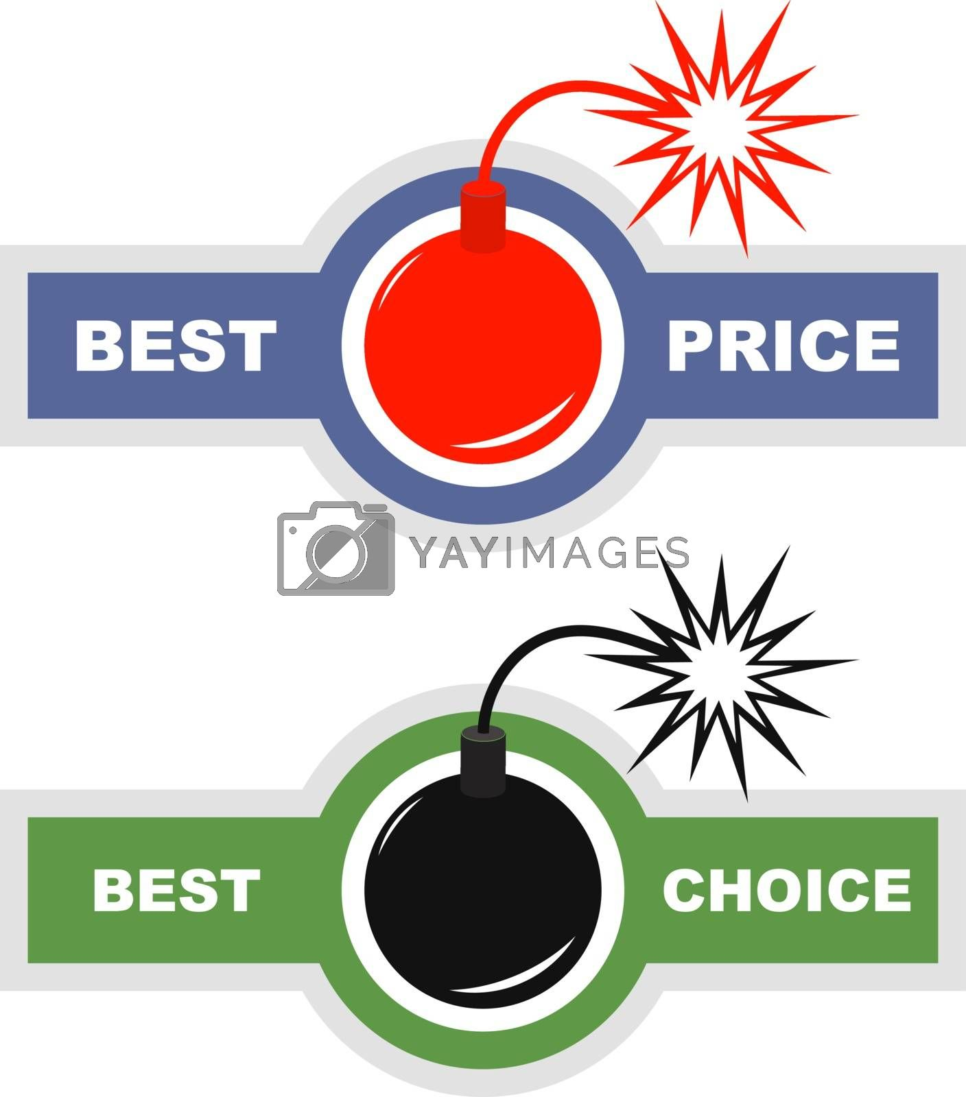 Sale signs. Usable for different business design.