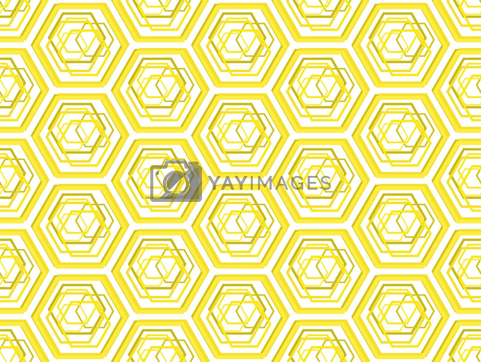 Be honeycombs stylized geometric seamless pattern background
