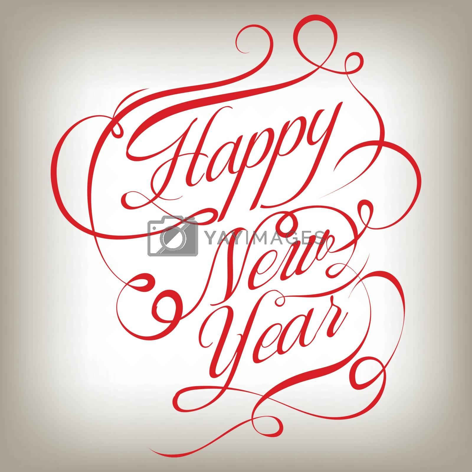 Happy New Year retro background. Vector illustration. EPS
