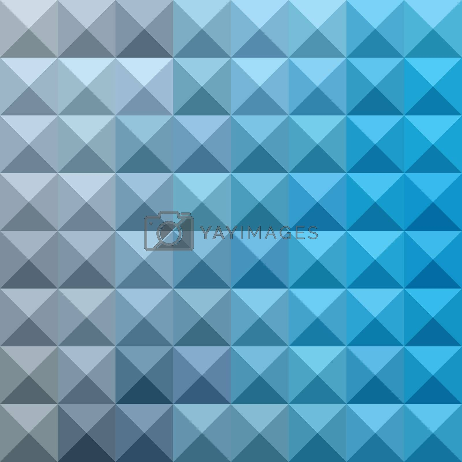 Low polygon style illustration of a bright cerulean blue abstract geometric background.