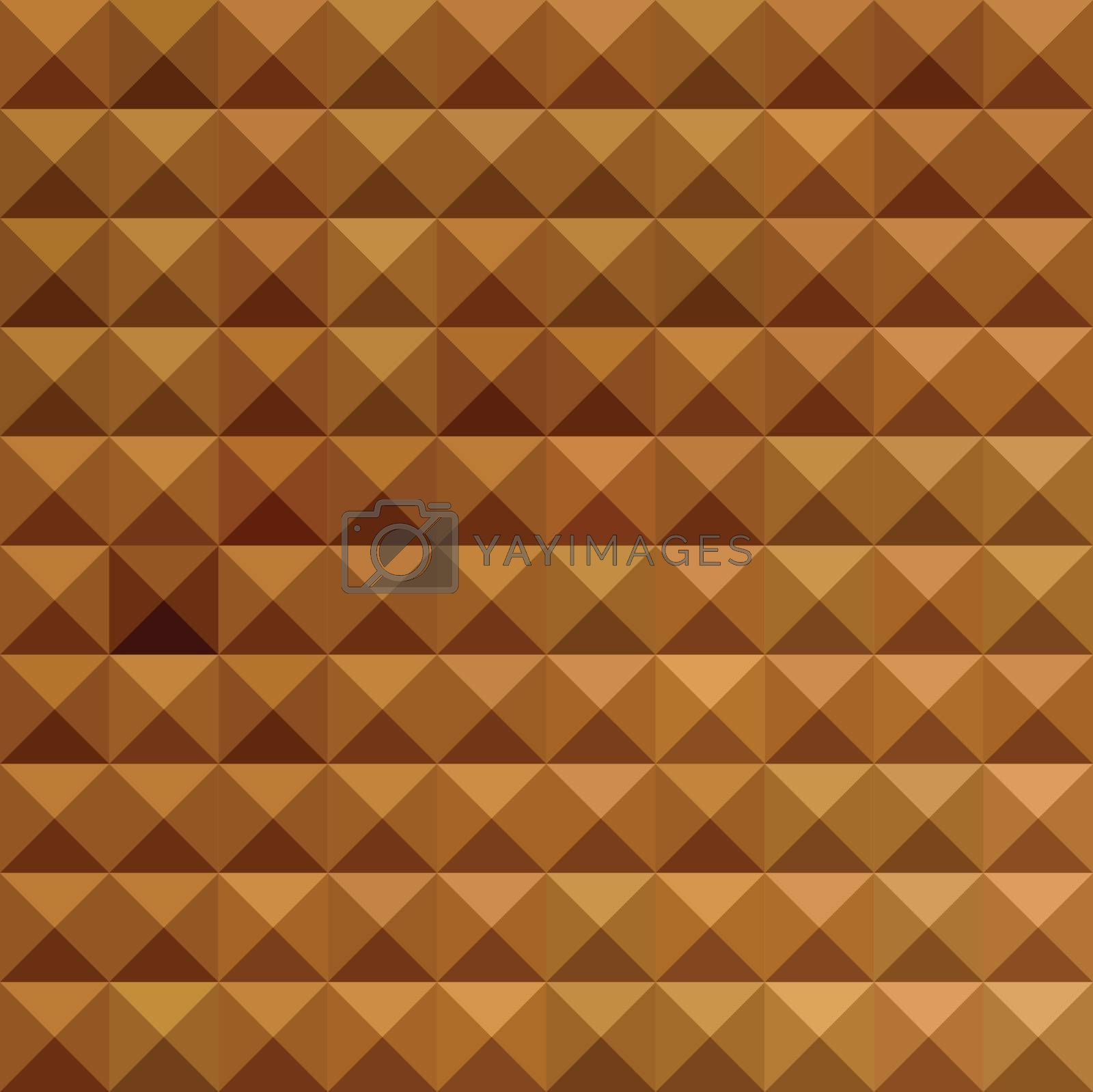 Low polygon style illustration of a bronze brown abstract geometric background.
