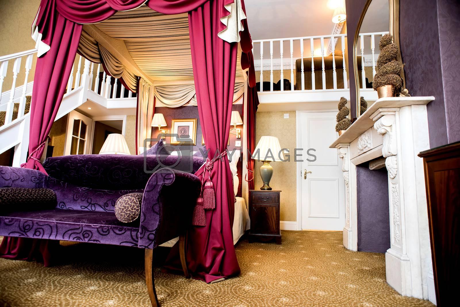 Elegant interior of luxury bedroom