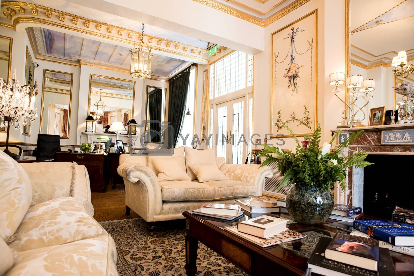 Decorated living room deign with furniture