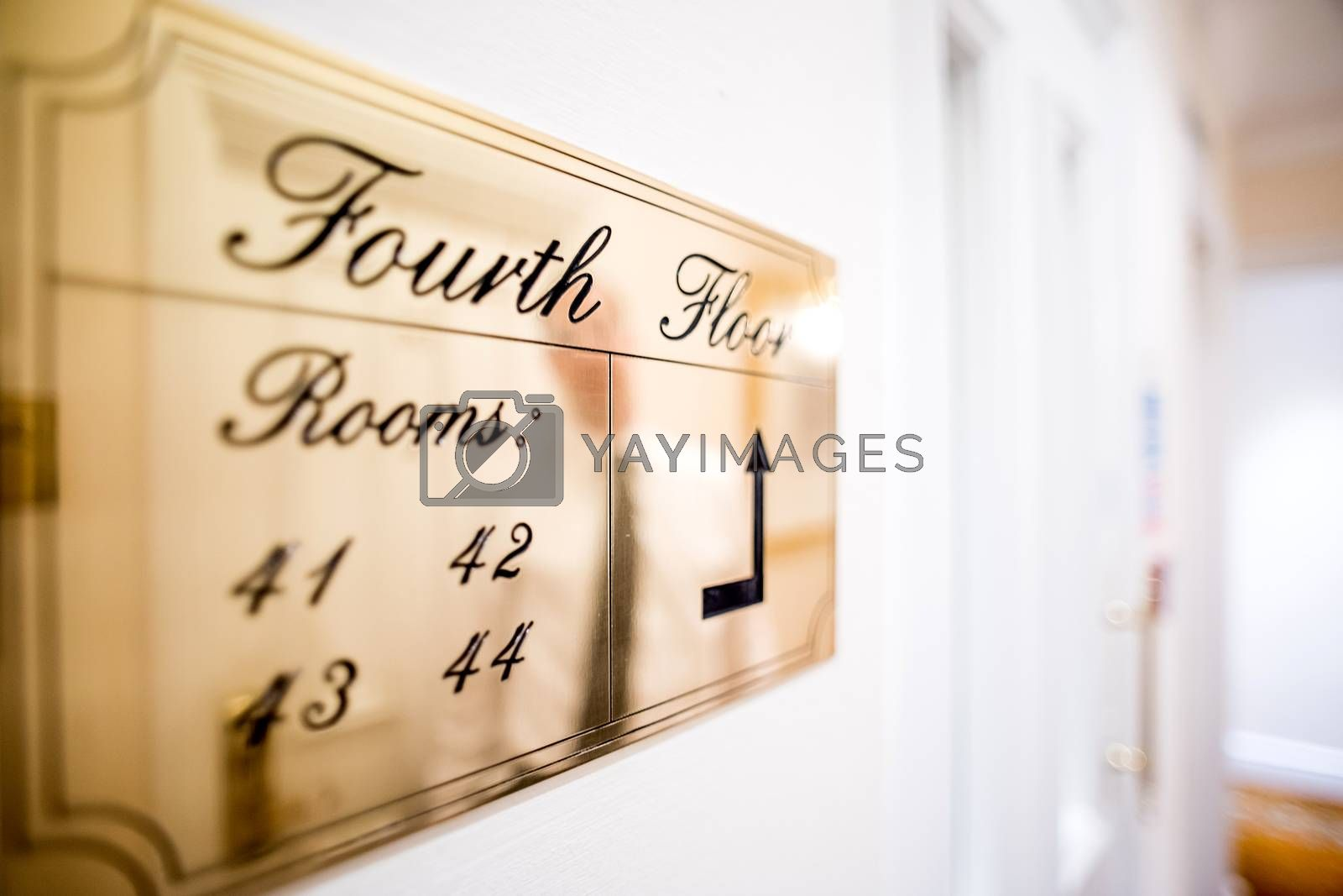 Travel image of a hotel corridor  by stockyimages