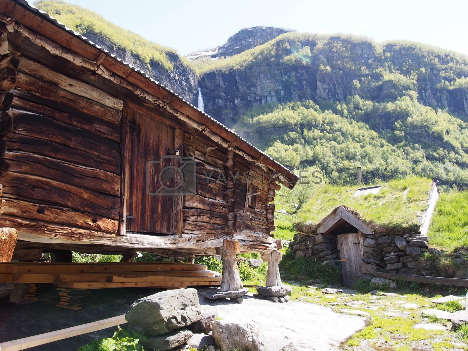 Sinjarbu farm, Aurlandsdalen, Norway