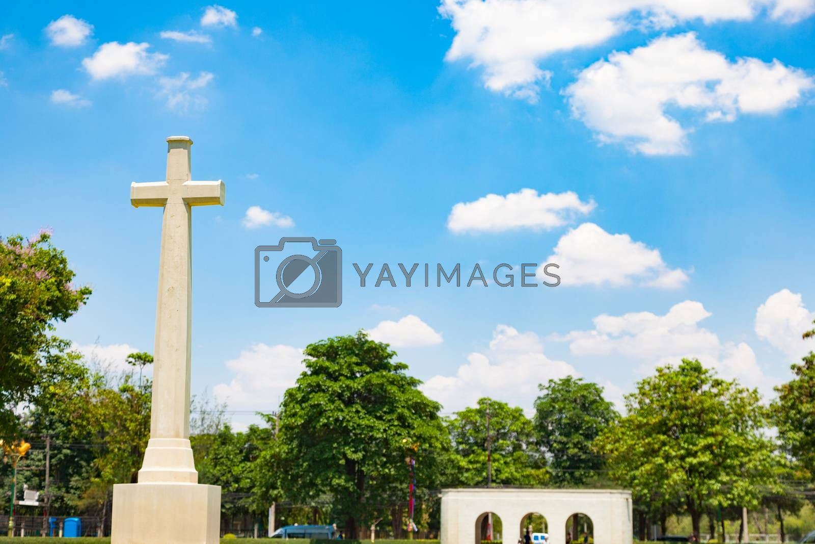 cross in the cemetery by a454