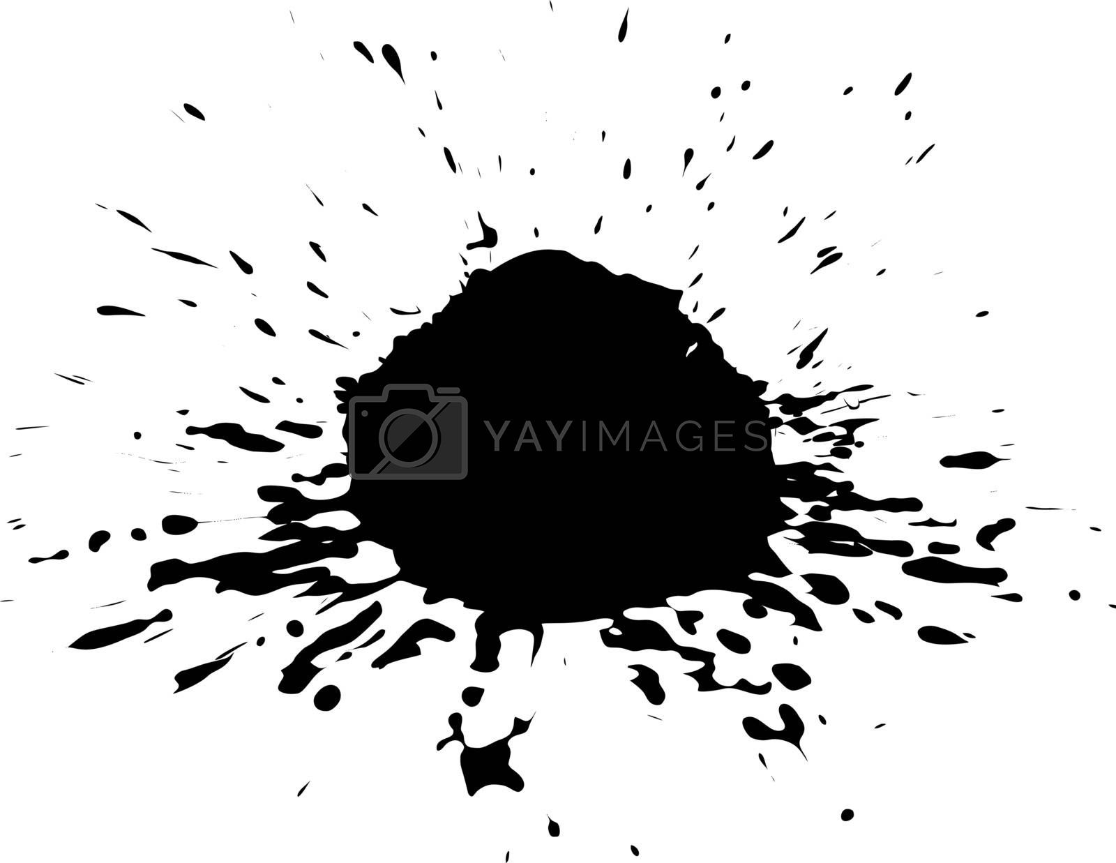 Vector Ink Blotch. Can Be Used As Design Element.