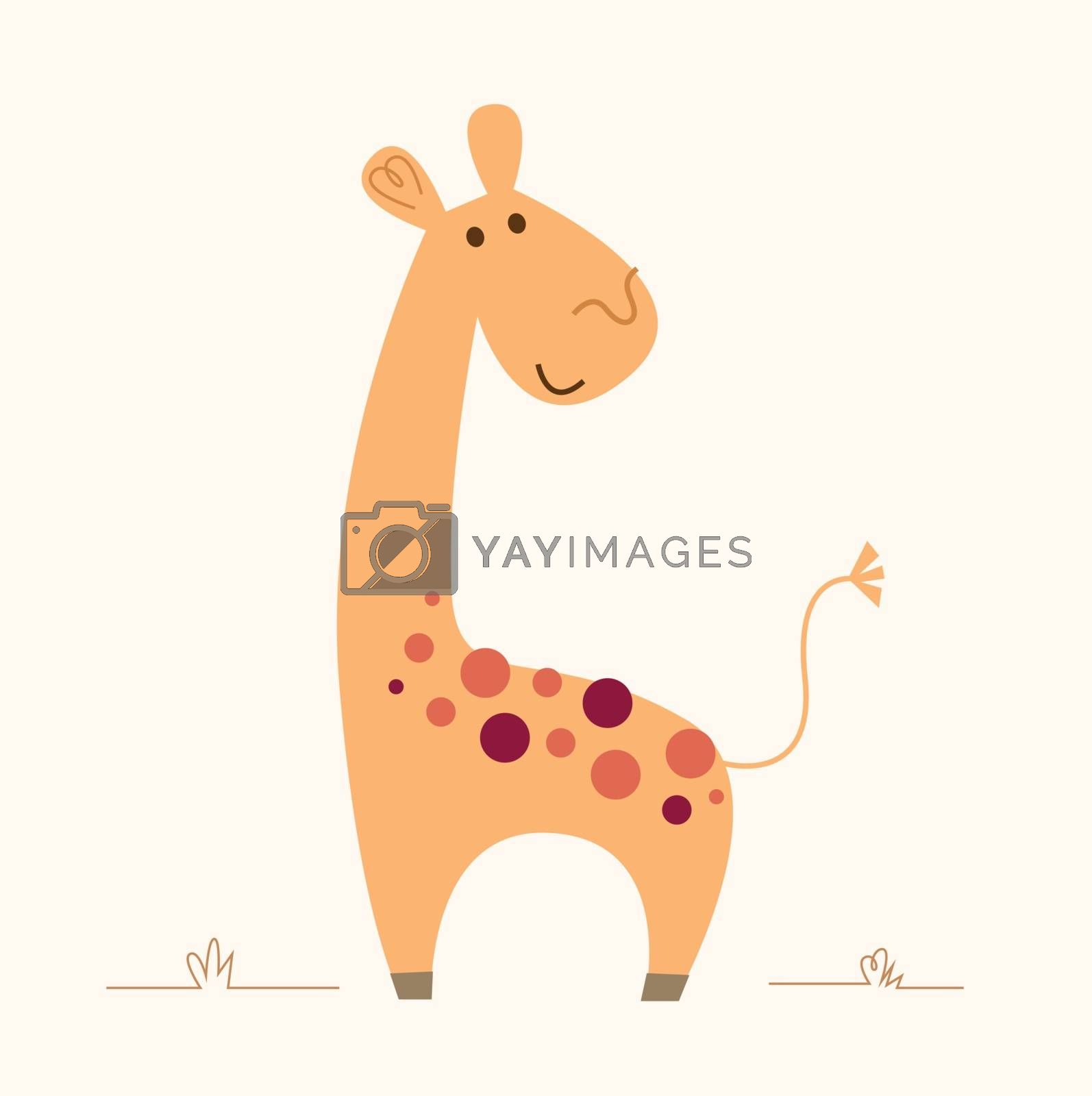 Cute Giraffe character for baby room by Lordalea