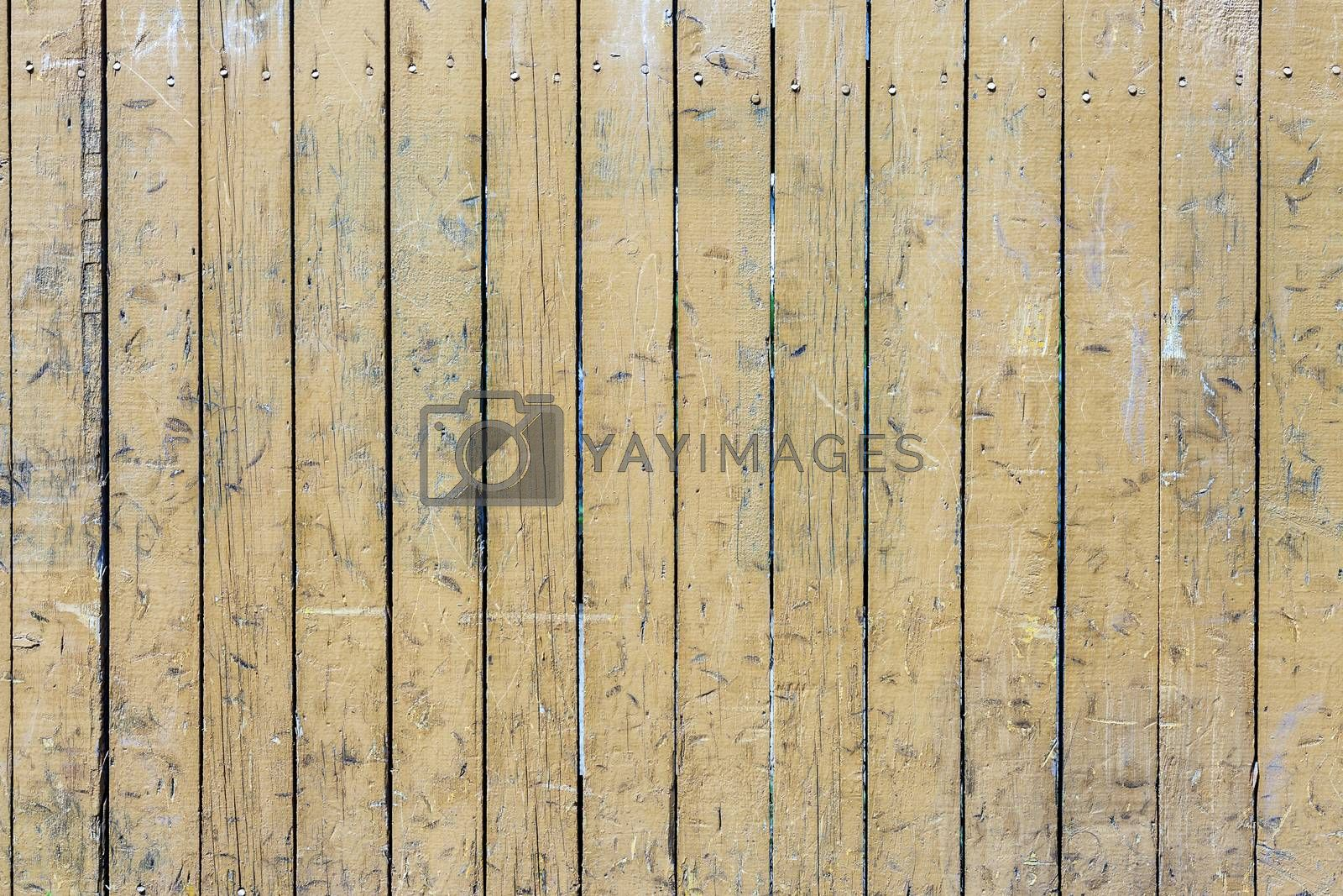Royalty free image of Yellow Wooden Plank by H2Oshka