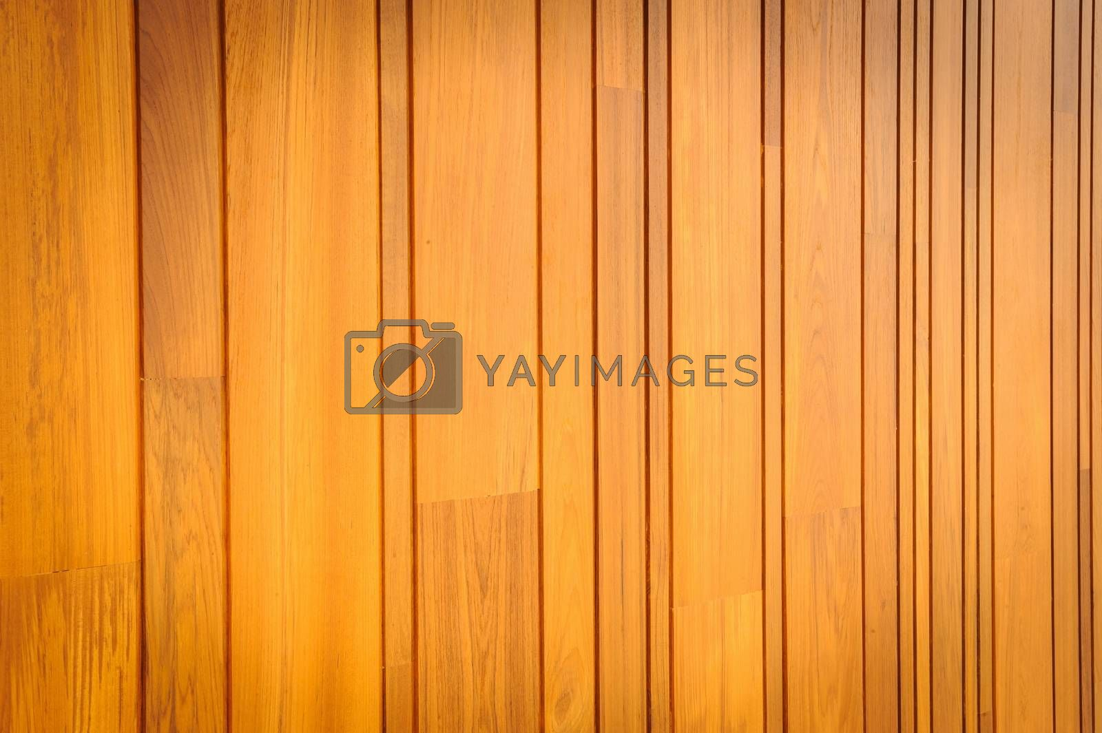 Modern pattern detail of teak wood in background.