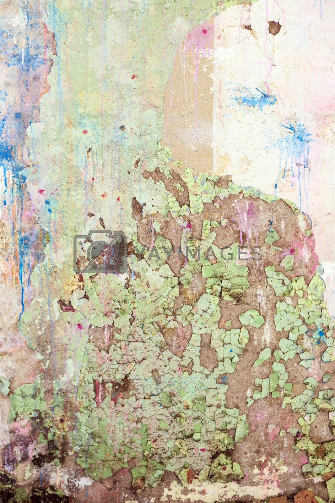 Royalty free image of Grunge Colored  Old Concrete Texture Wall by H2Oshka