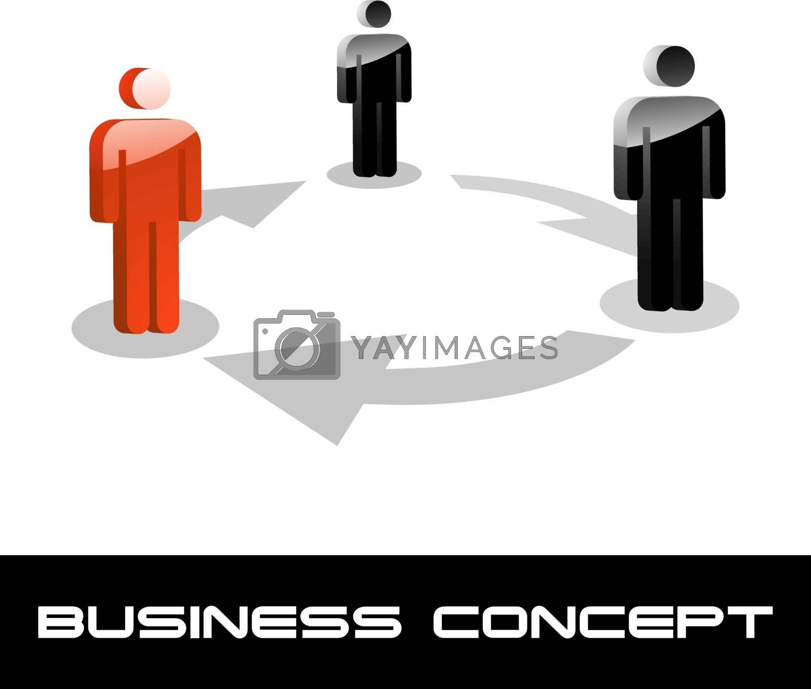 Business concept illustration. Usable for different business design.