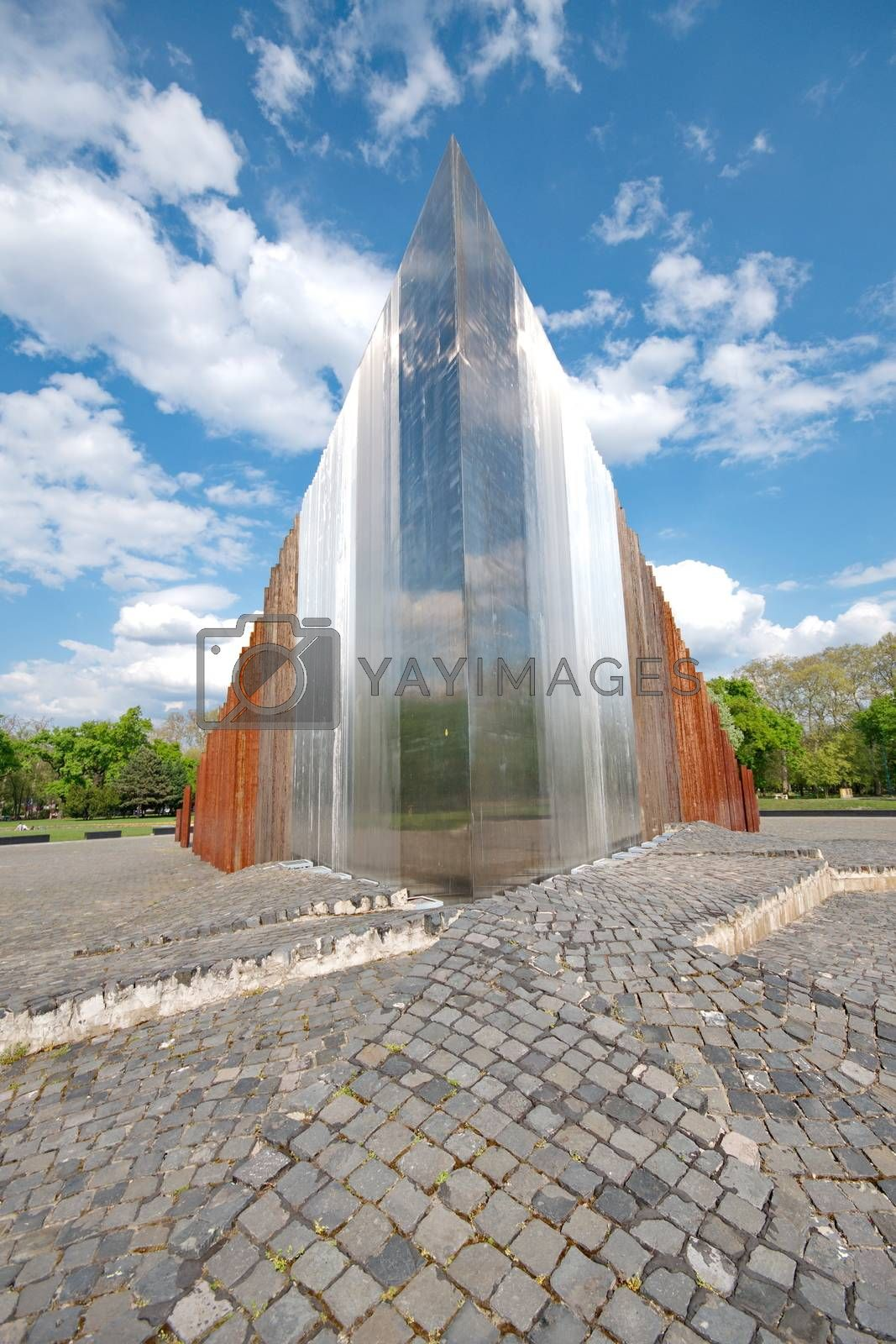 BUDAPEST - April 24: Abstract memorial for freedom fighters in Budapest, Hungary on April 24, 2015.