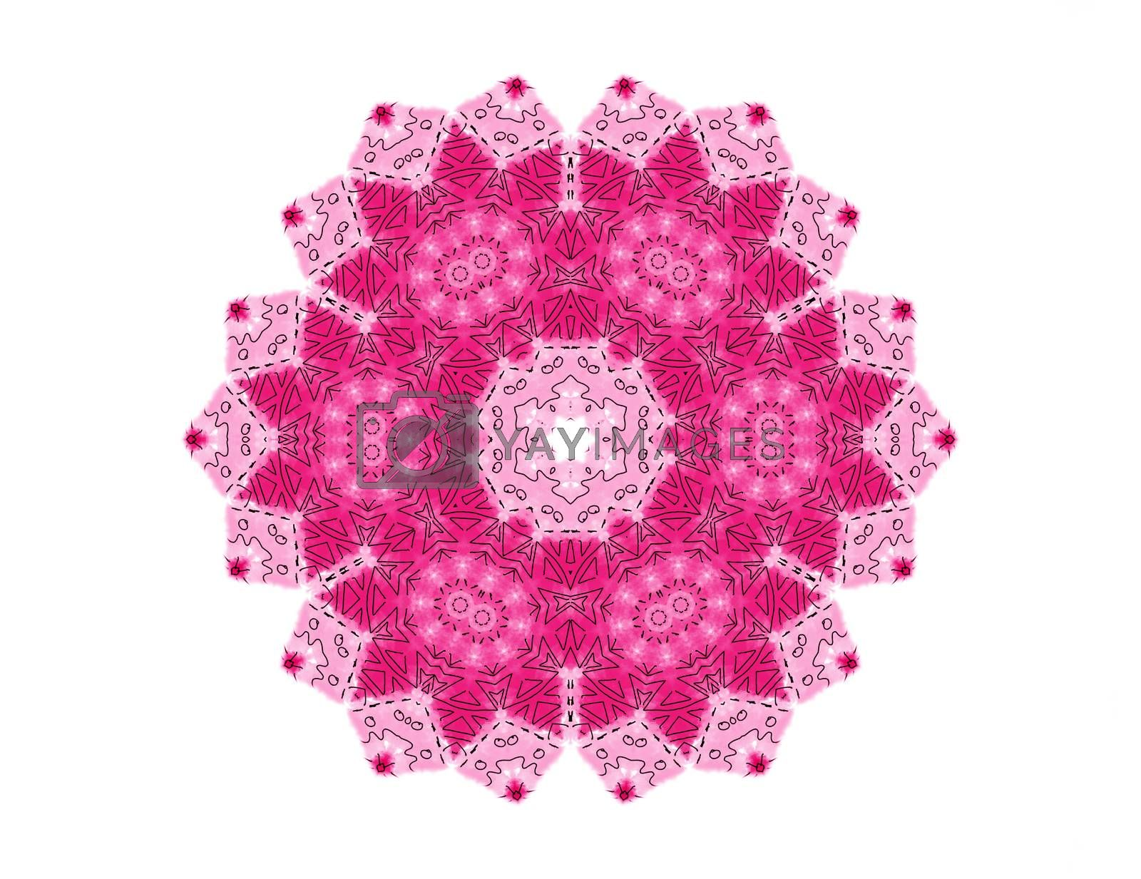 Abstract bright pattern shape on white background