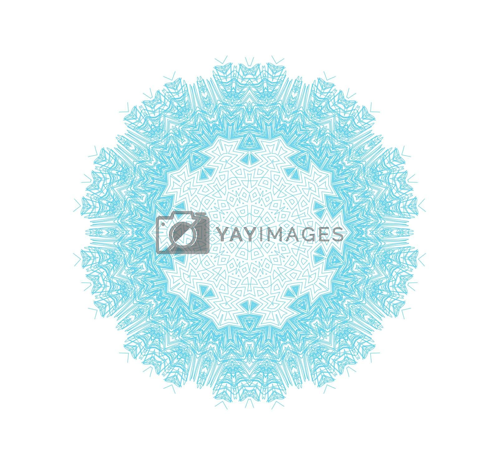 Abstract concentric pattern shape