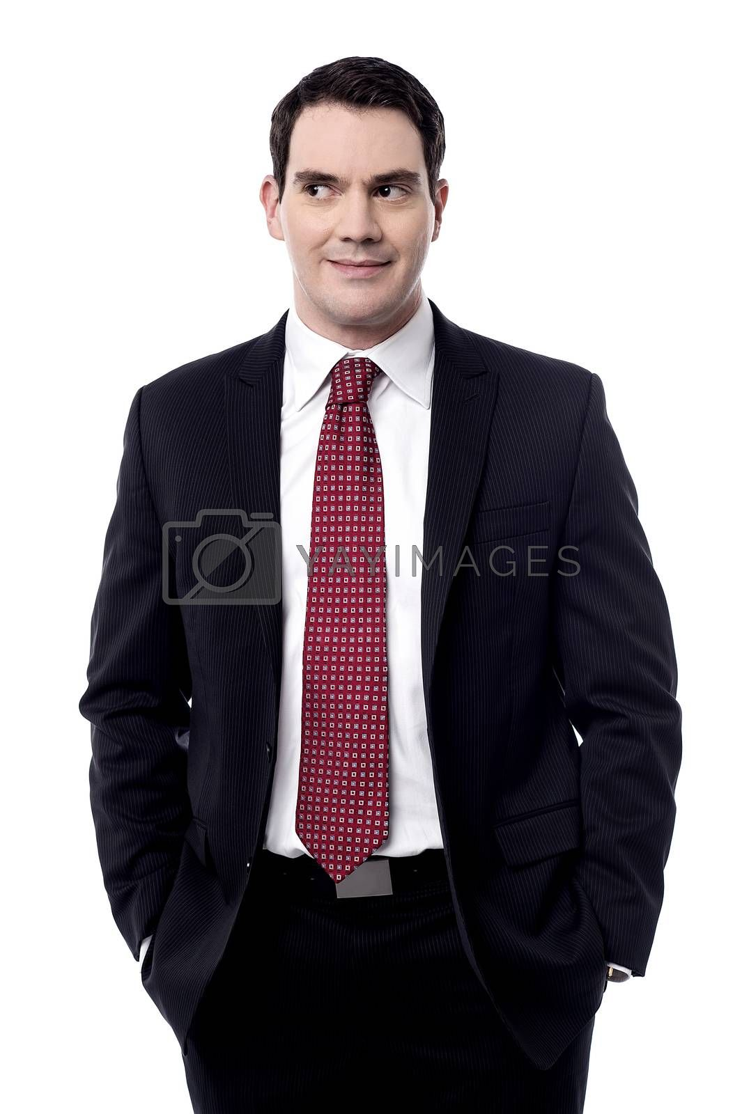 Male entrepreneur with his hands in pockets