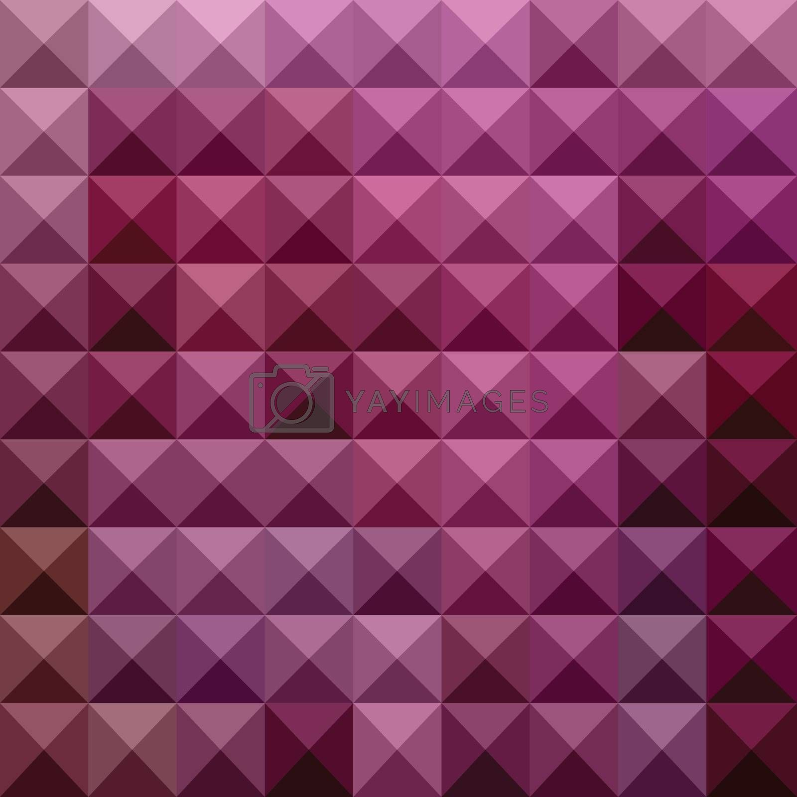 Low polygon style illustration of a byzantium purple abstract geometric background.
