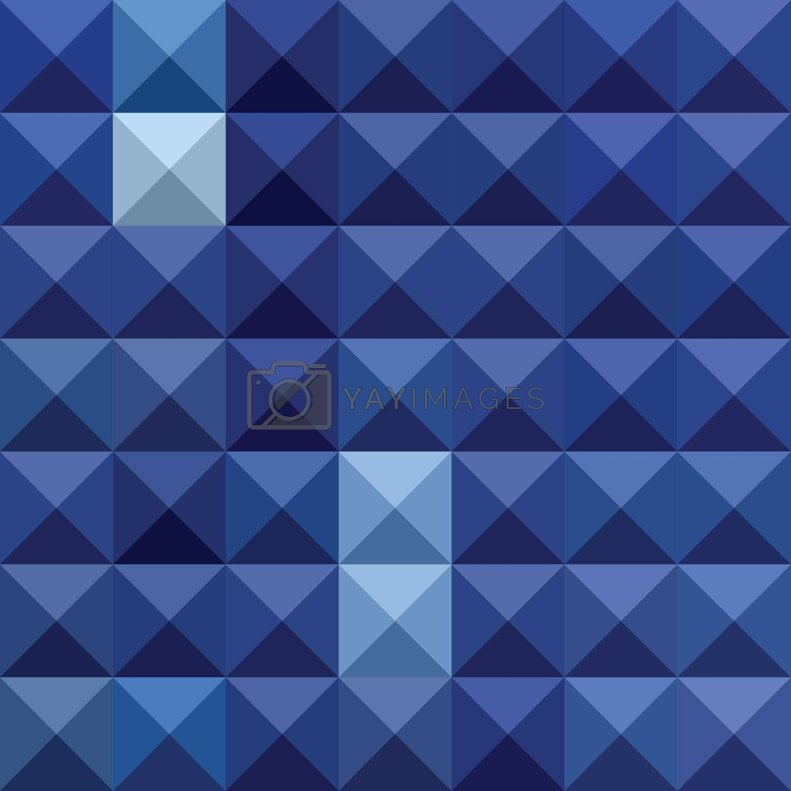 Low polygon style illustration of cobalt blue abstract geometric background.