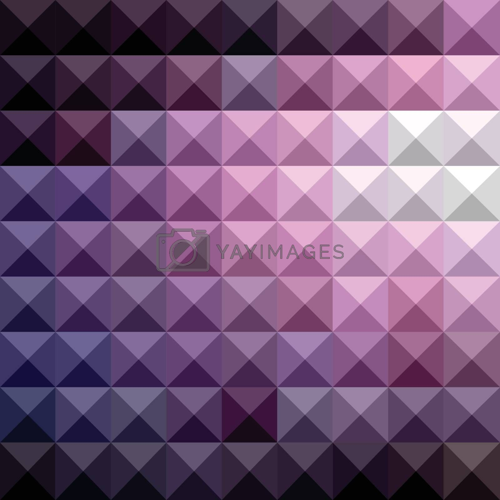 Low polygon style illustration of a russian violet abstract geometric background.