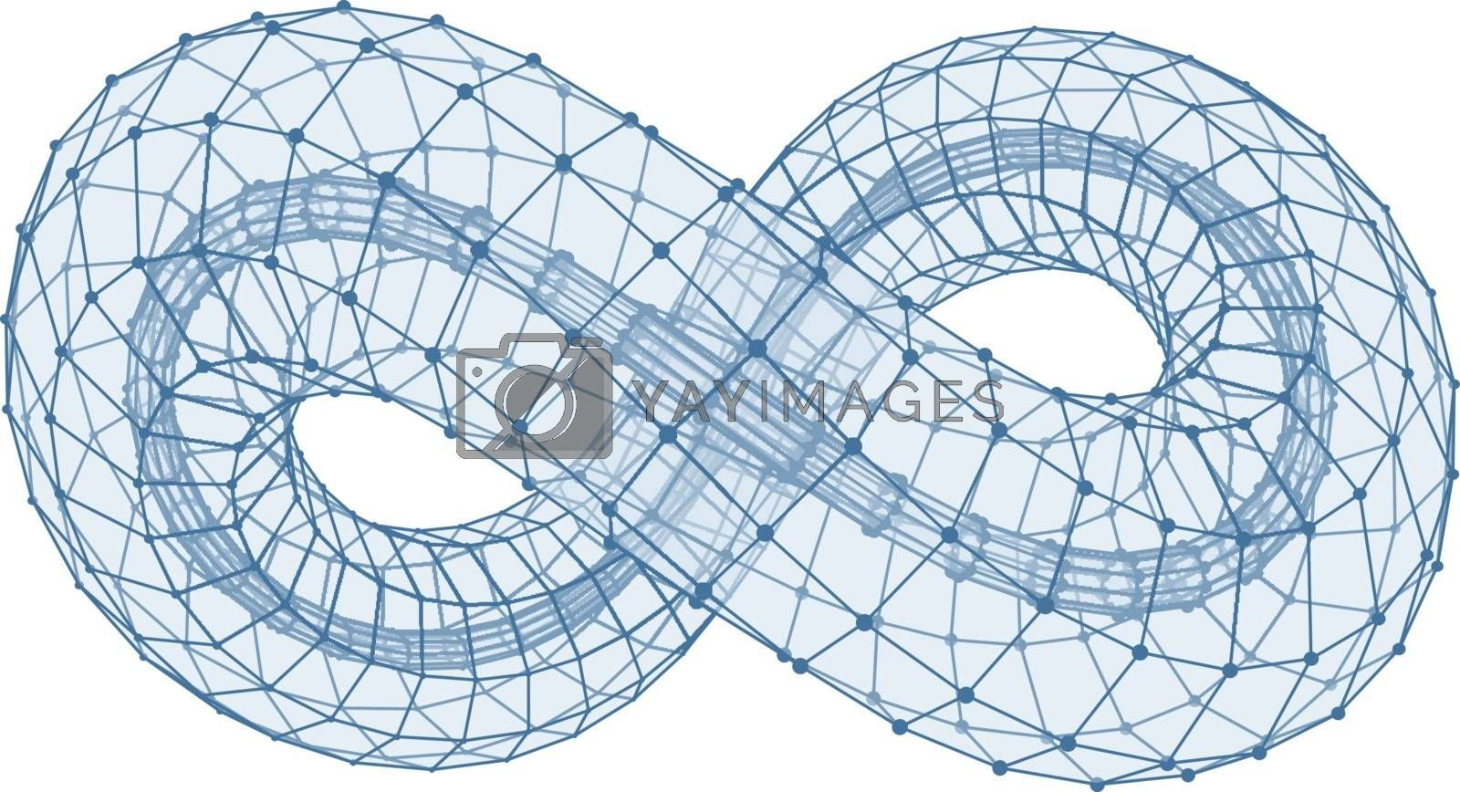 Infinity Symbol. Can Be Used As Design Element, Emblem, Icon. 3d Vector Illustration.