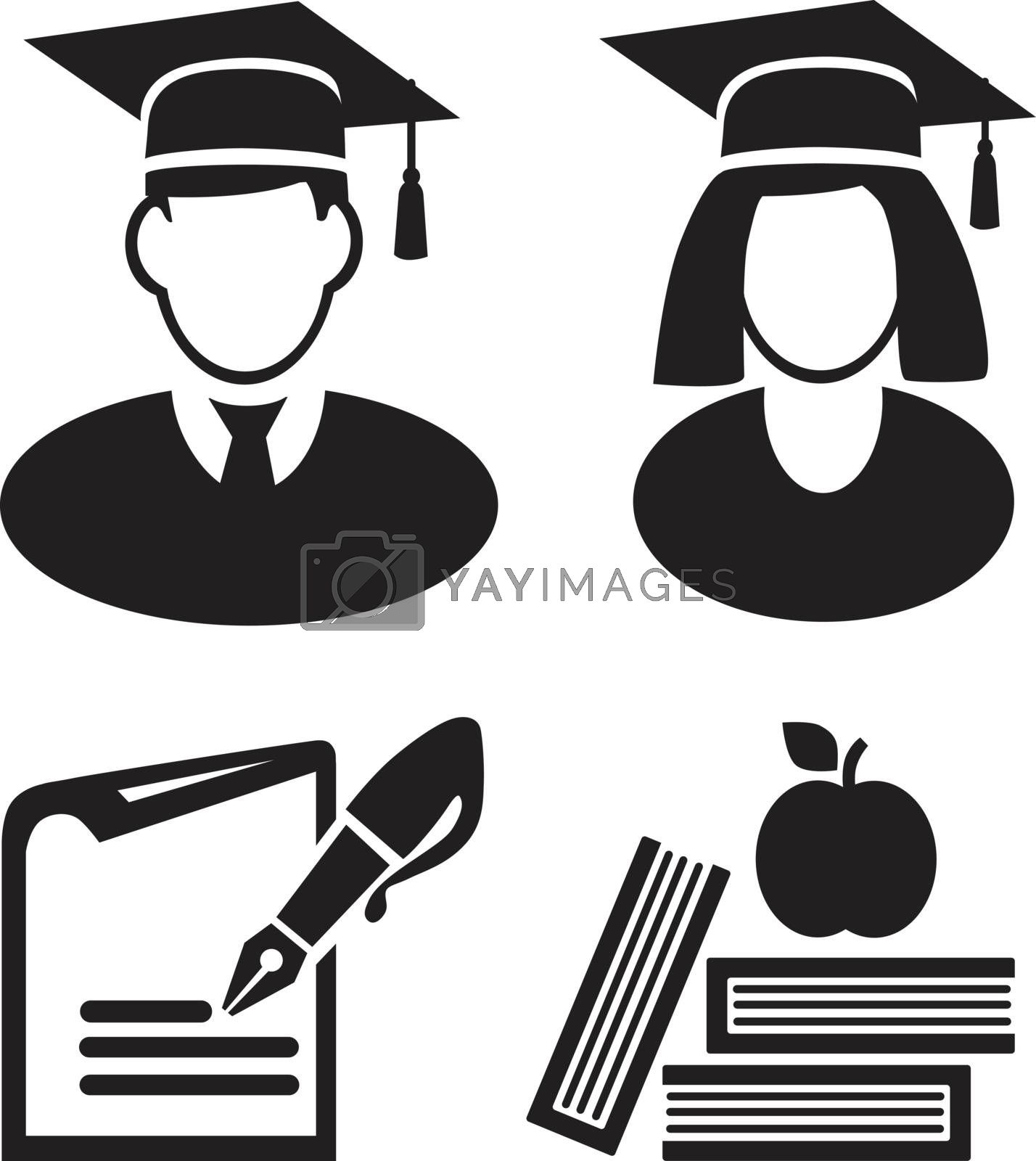 education icon vector eps 10