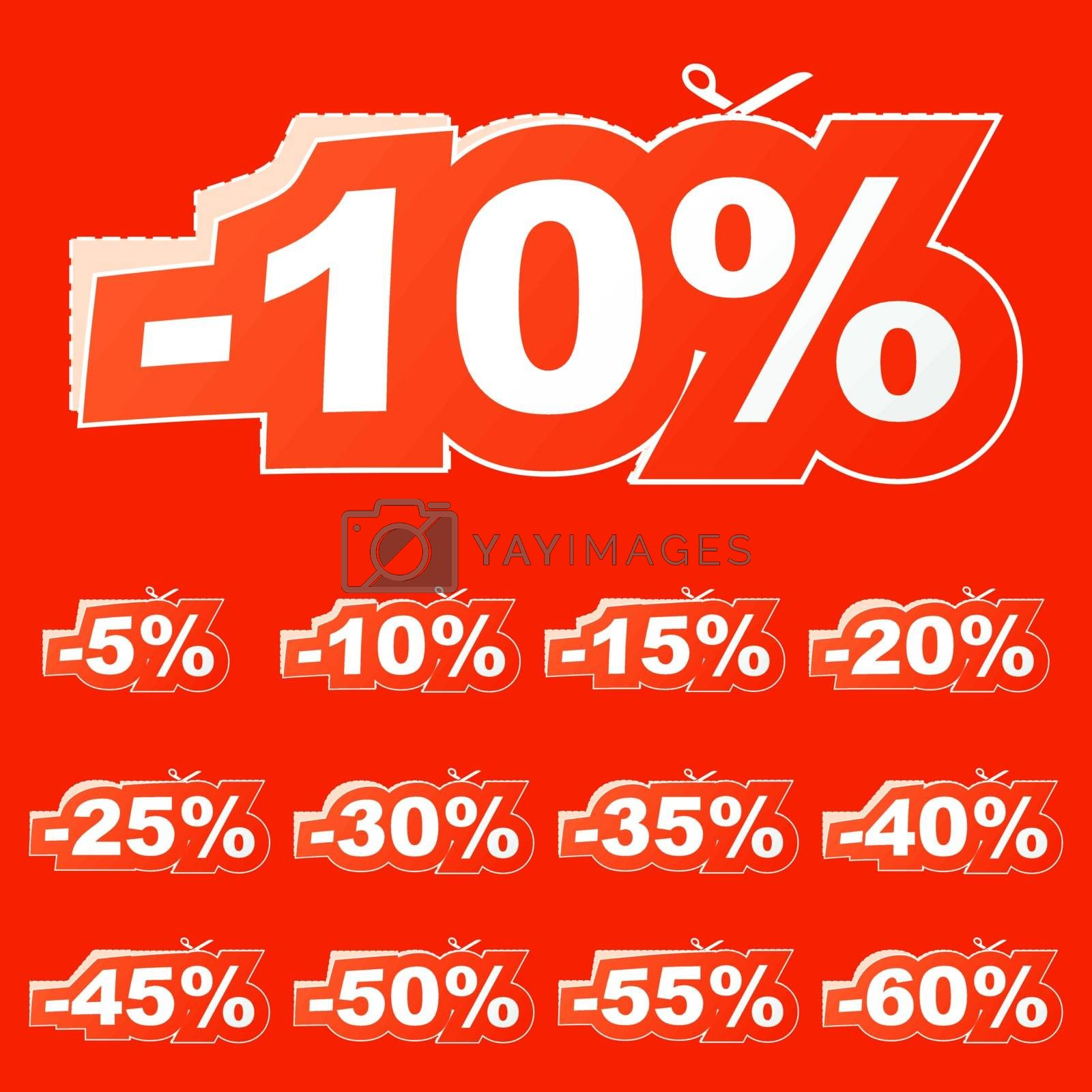 Discount signs. Usable for different business design.