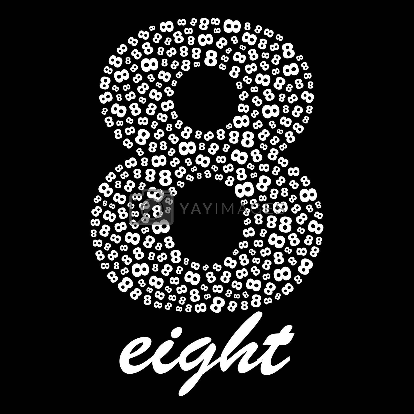 EIGHT.Usable for different design.