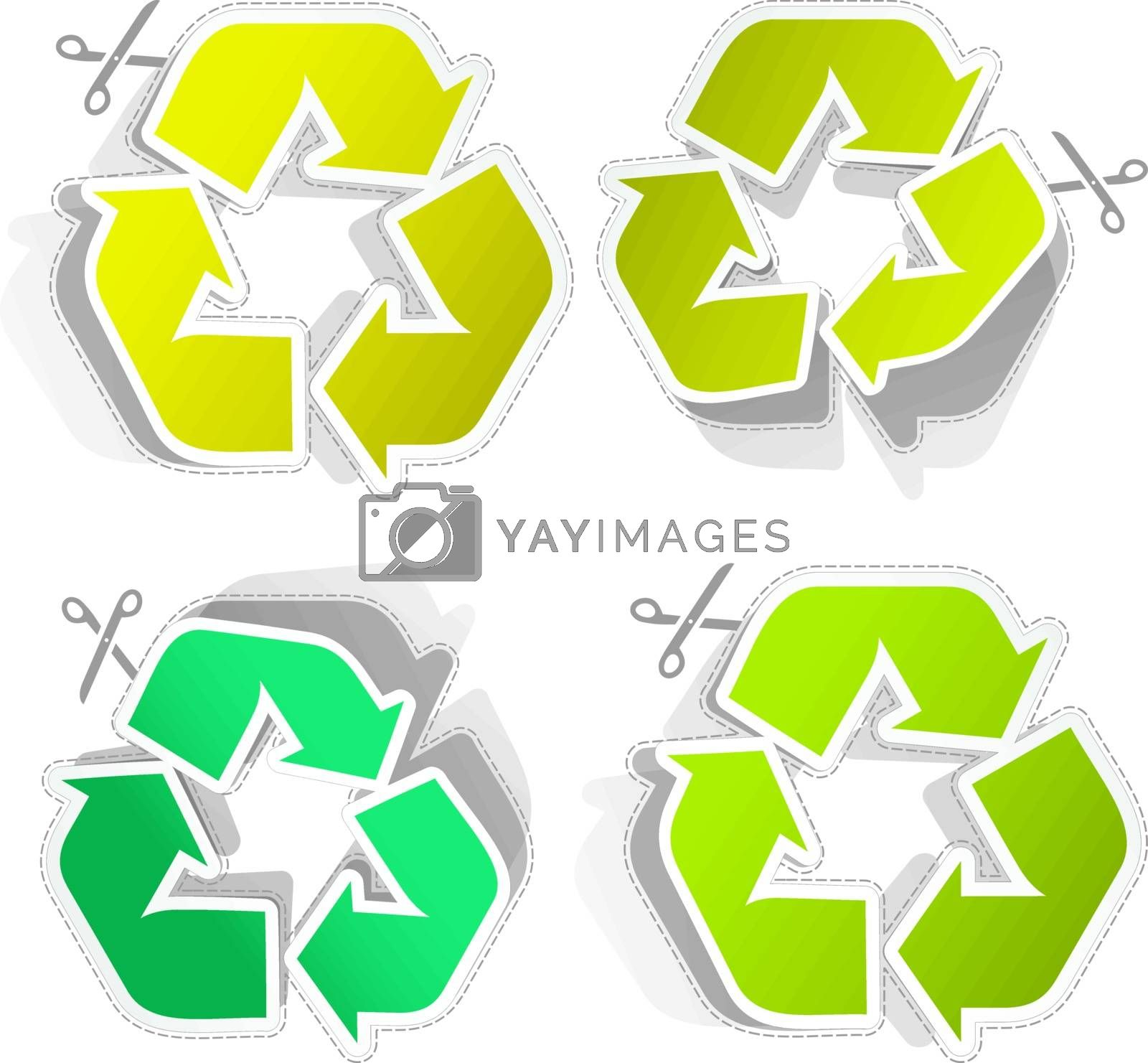 Recycle symbol. Usable for different design.