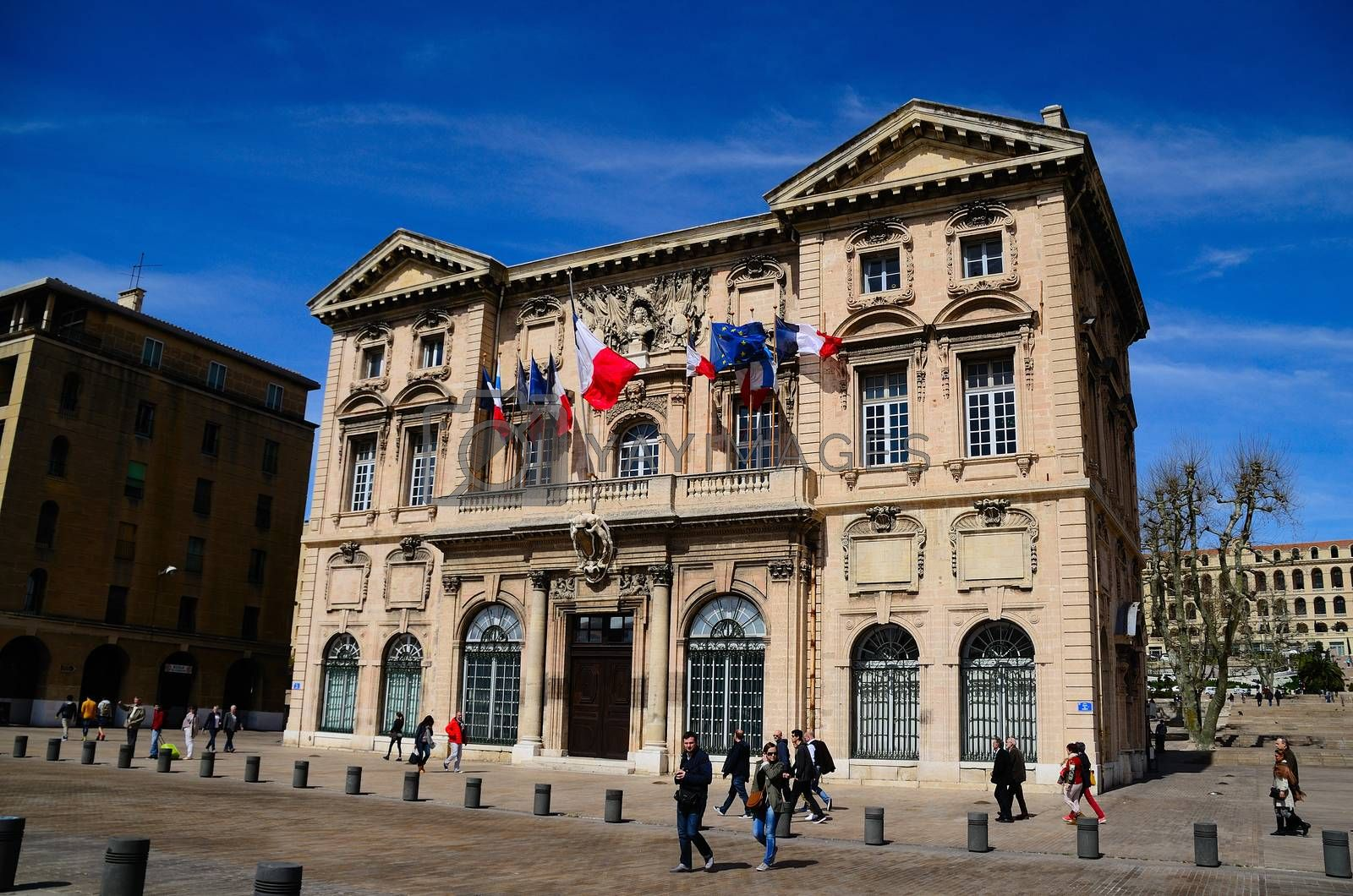 beautiful antique house in the city of marseille