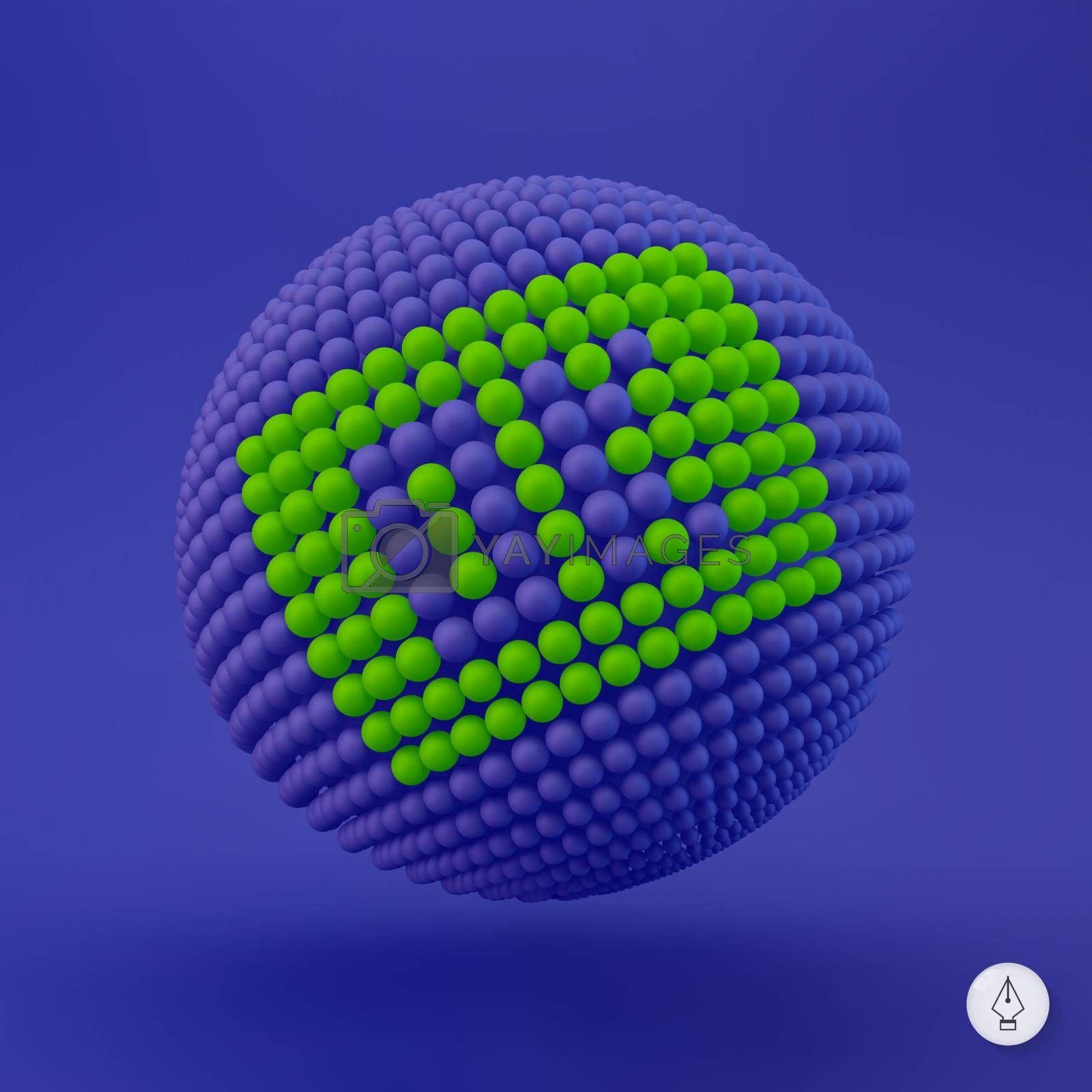 OK icon. Can be used as Web sign and Design element. 3d vector illustration.