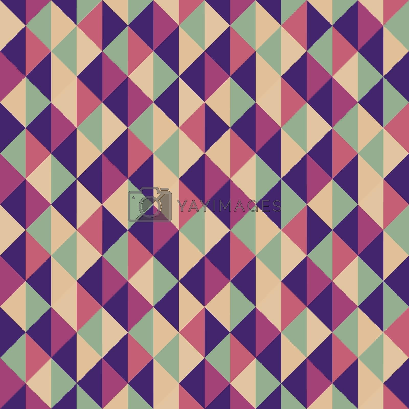 Geometric Triangles Background. Mosaic Vector Illustration. Can Be Used For Design And Presentation.