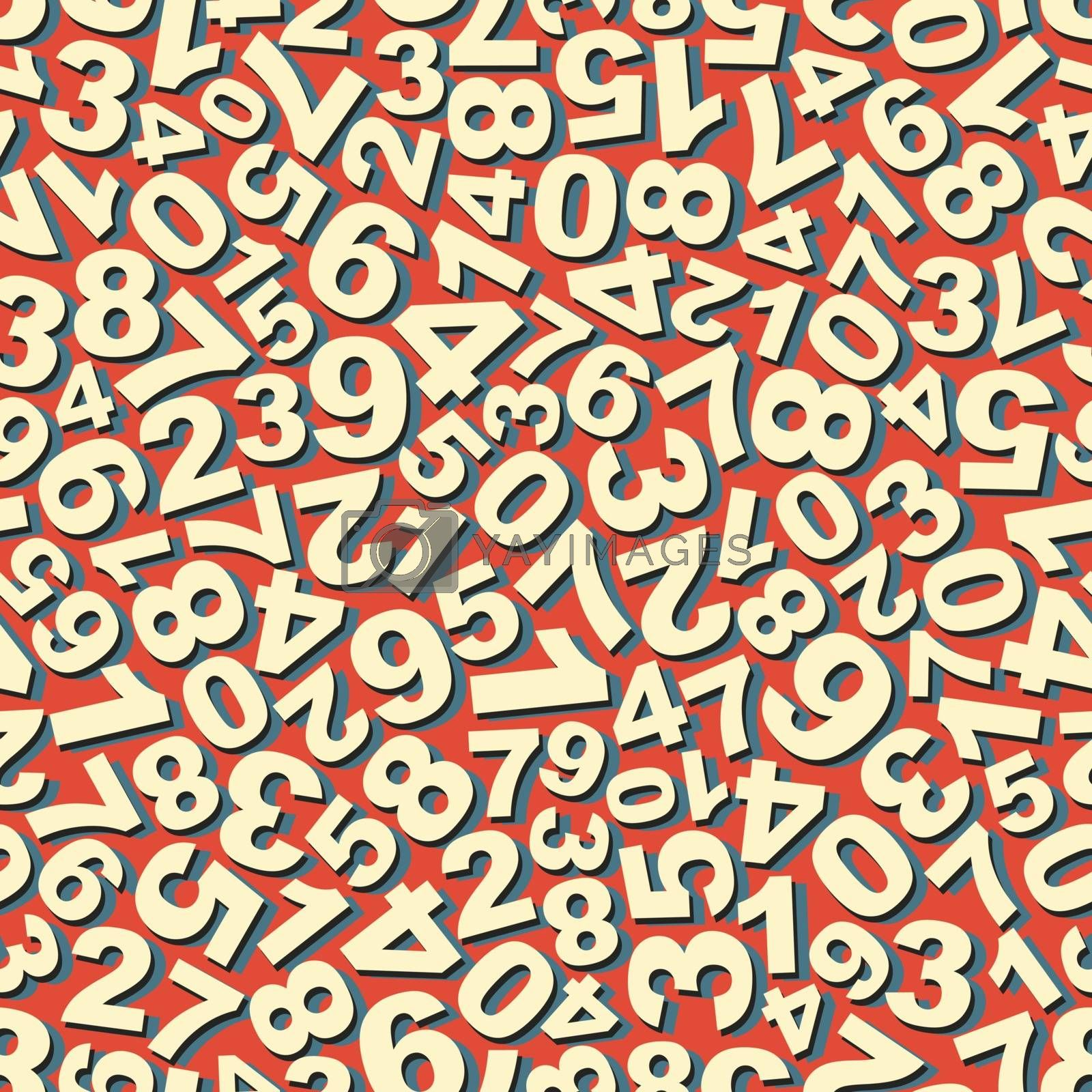 Numbers. Seamless Pattern. Vector Illustration. Can Be Used For Wallpaper, Web Page Background, Web Banners.