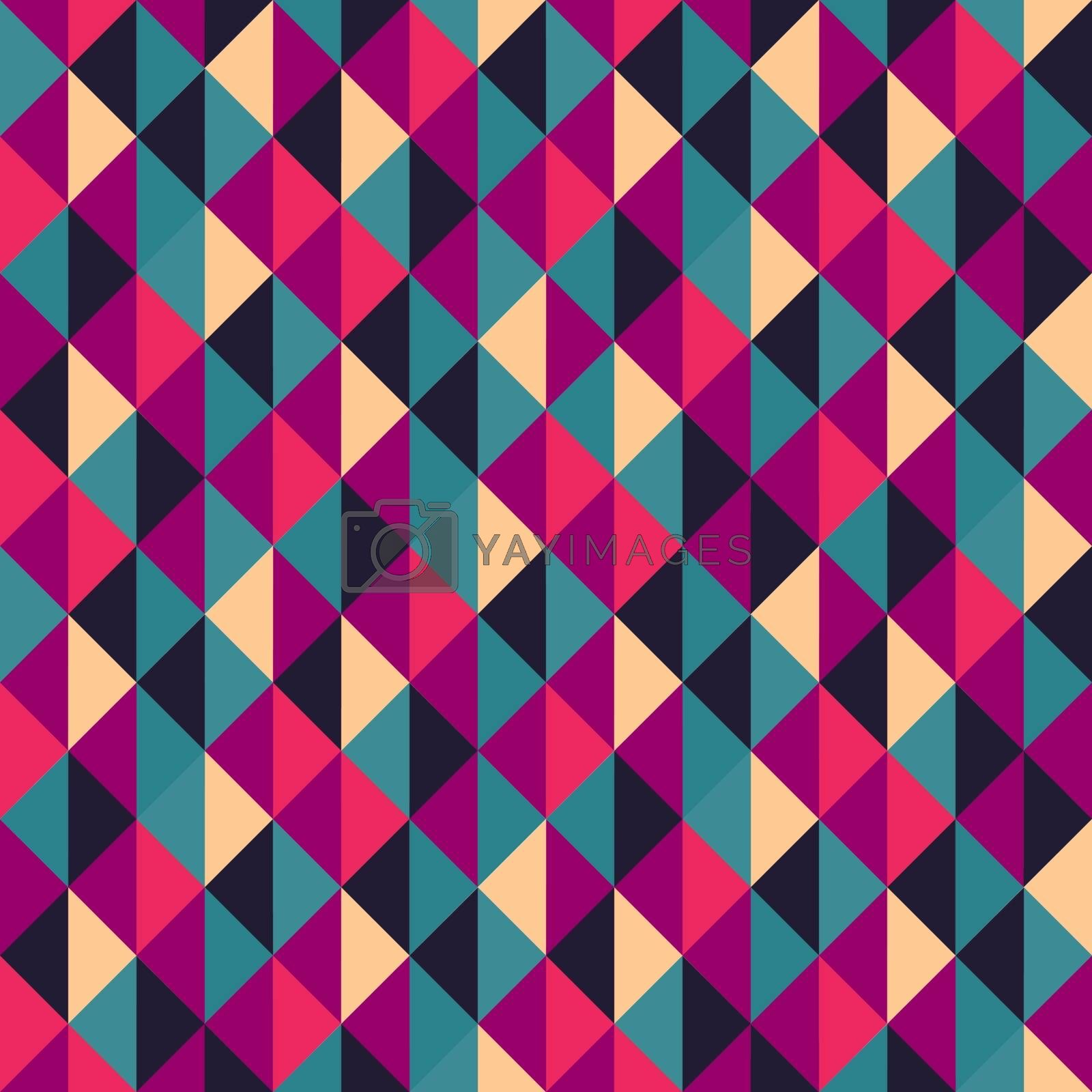 Seamless geometric triangles background. Mosaic. Abstract vector illustration. Can be used for wallpaper, web page background, book cover.
