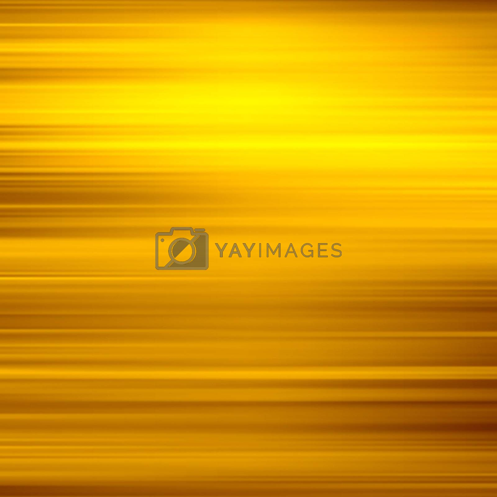Gold waves background. Metal plate with reflected light.  by login
