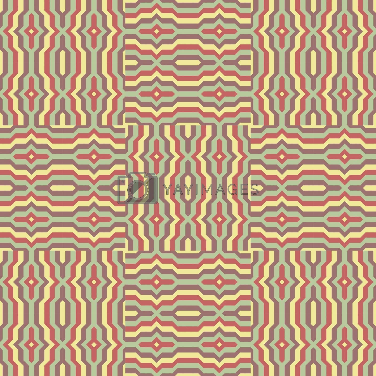 Seamless pattern. Mosaic. Template for design. by login