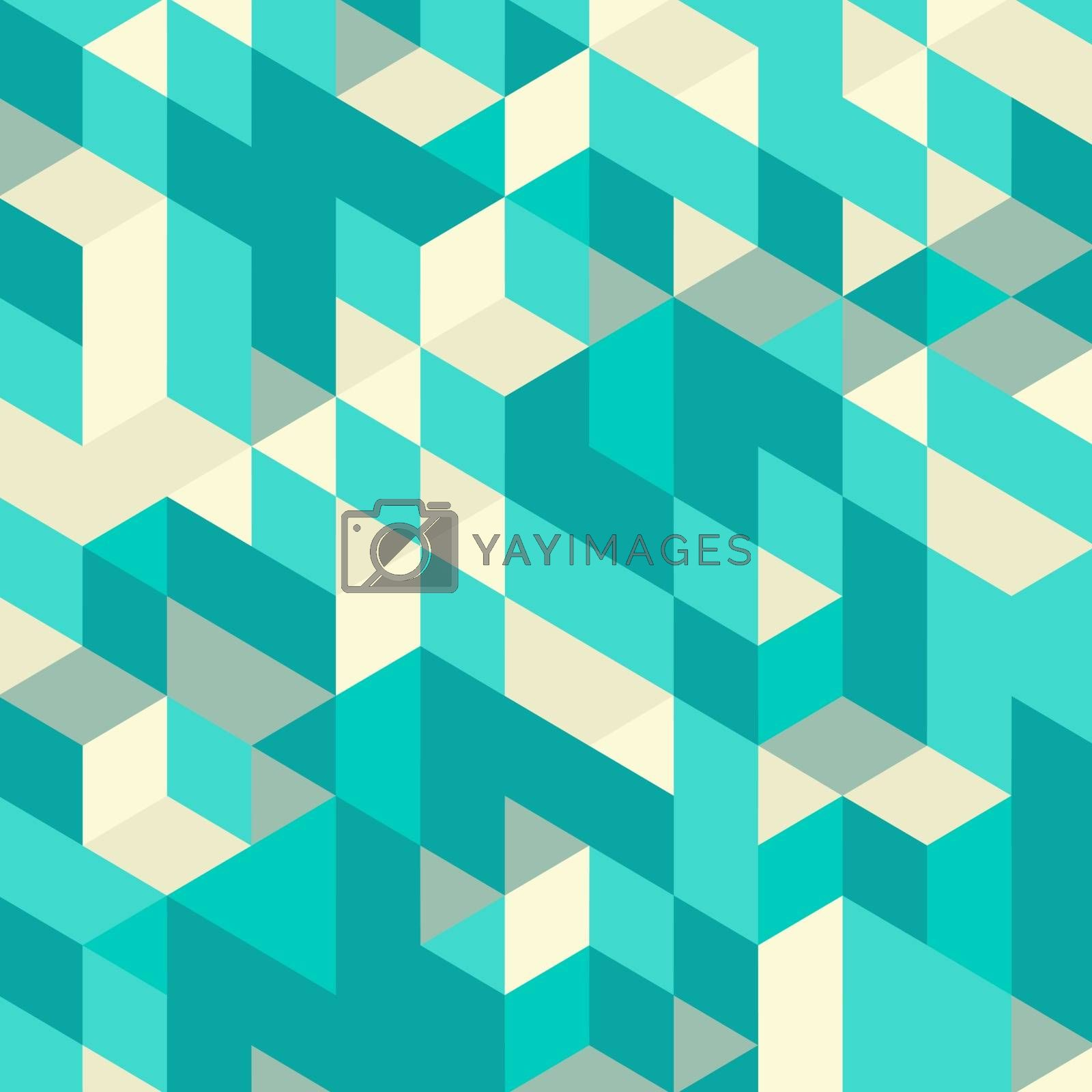 Abstract 3d geometrical background. Mosaic. Vector illustration. by login