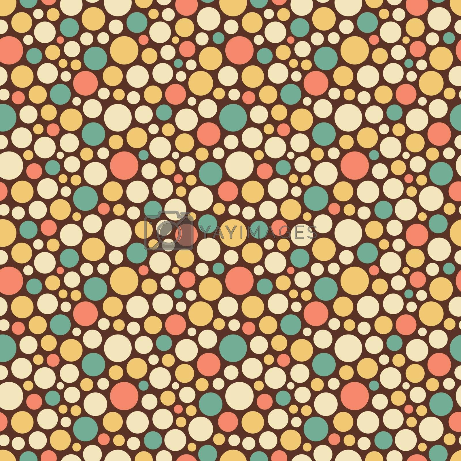 Seamless festive background from circles.  Vector Illustration. Can be used for wallpaper, web page background, web banners.